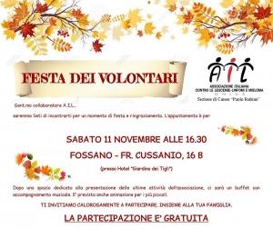Festa dei volontari A.I.L. Cuneo al 'Giardino dei Tigli'