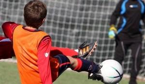 Un giocatore (categoria Juniores) sale sugli spalti per sfidare i 'tifosi' avversari che lo avevano insultato