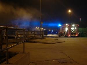 Incendio nei pressi dell'Auchan