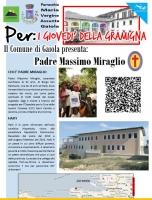 A Gaiola per i 'Giovedì della gramigna' ospite padre Massimo Miraglio