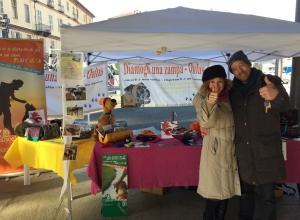 L'associazione 'Diamogli una zampa' presente al Fitwalking del Cuore a Saluzzo