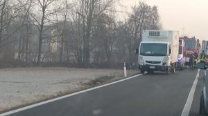 Incidente con auto ribaltata a Pogliola