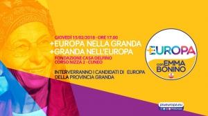 I candidati di +Europa con Emma Bonino incontrano la cittadinanza cuneese