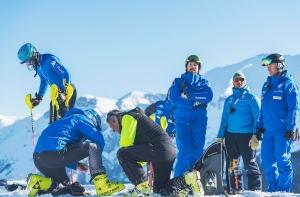 La Nazionale maschile di Sci alpino si allena a Limone