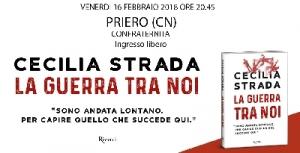 A Priero la presentazione del libro 'La guerra tra noi' di Cecilia Strada
