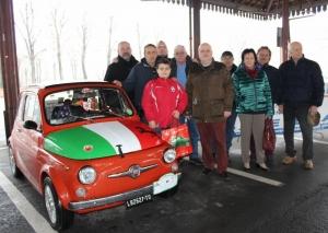 Ad Alba un centinaio di storiche Fiat 500 in città