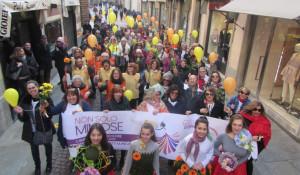 In tanti alla marcia 'Non solo mimose' ad Alba