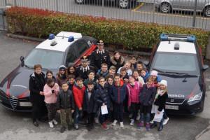 Gli alunni delle elementari ospiti dei Carabinieri di Borgo e Saluzzo
