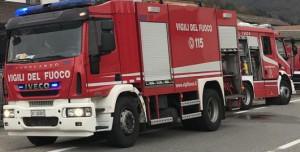 Trattore prende fuoco a Rocca de' Baldi, intervengono i Vigili del Fuoco