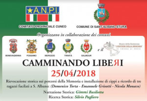 'Camminando Liberi', rievocazione storica tra Benevagienna e Sant'Albano