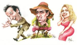 'Caricature dei famosi', mostra di Franco Bruna a Dogliani