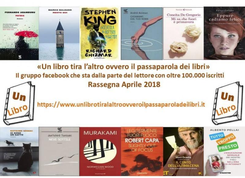 Ecco i libri più letti e commentati di aprile