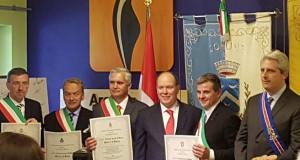 Conferita la cittadinanza onoraria delle Alpi del Mare a Alberto di Monaco
