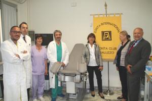 Una nuova poltrona ginecologica per l'ospedale di Savigliano