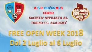 A luglio 'free open week' con il Boves Mdg