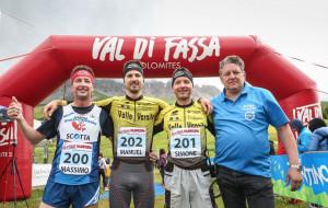 Tre cuneesi momentaneamente al comando della 'Val di Fassa Running'