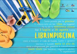 Da martedì 3 luglio a domenica 26 agosto al Lido di Cuneo c'è 'Librinpiscina'