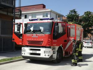 Incendio di sterpaglie (già spento) a Costigliole Saluzzo