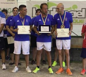 Tre cuneesi Campioni d'Italia di Petanque