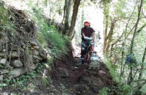 I forestali della Regione sono intervenuti a Valloriate