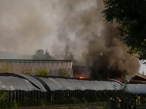Incendio a San Defendente di Cervasca presso la sede de 'I Tesori della Terra' (FOTO E VIDEO)