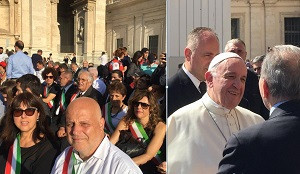 Consegnato un magnum di vino a Papa Francesco