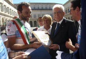 'La storia in bici': il consigliere braidese Sergio Panero ricevuto da Sergio Mattarella