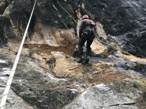 Intervento della Provincia: rimossi massi instabili in parete sulla strada Viozene-Upega