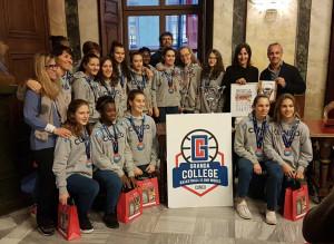 Basket: le campionesse d'Italia della Granda College Under 14 premiate in Comune a Cuneo