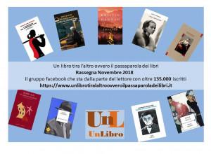 Ecco i libri più letti e commentati a novembre 2018 dal gruppo