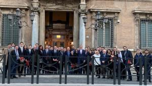 Tanti cuneesi con la Lega Giovani del Piemonte a Roma per la manifestazione dell'8 dicembre