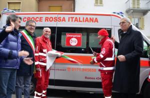 'Benedetta' la nuova ambulanza della CRI di Busca