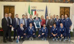 Pallapugno, Cuneo chiude la sua stagione da urlo con il ricevimento al CONI e premiazioni in Fondazione CRC