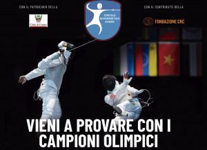 Un campione olimpico ospite nei locali della Scherma Cuneo
