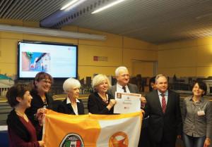 Ad Entracque e Guarene la bandiera arancione del Touring Club Italiano
