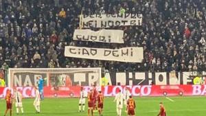 In curva durante Juventus-Roma uno striscione in ricordo di Paolo Demichelis