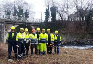 Busca, pulizia sulle sponde del torrente Maira