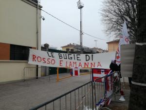 'Le bugie di Rosso e Lamanna': protesta dei Fedelissimi prima di Cuneo-Juventus Under 23