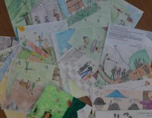 I disegni sulla Resistenza dei ragazzi dell'istituto comprensivo di Dronero esposti a Mosca