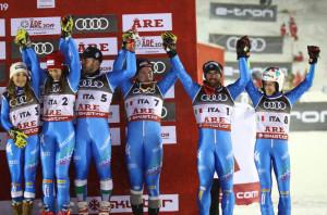 Sci Alpino: bronzo nel Team Event per l'Italia, in squadra anche Marta Bassino