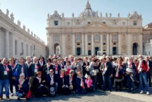 Sabato 90 pellegrini Ail di Cuneo hanno incontrato Papa Francesco a Roma