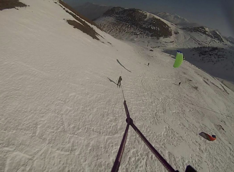 Lo snowkite approda in provincia Granda con l'asd Criminal Kite