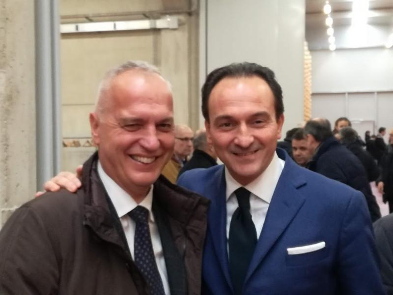 Alberto Cirio (a destra) in compagnia del senatore leghista Bergesio