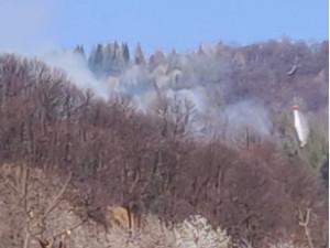 Incendio in valle Stura tra Rittana e Roccasparvera