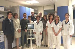 Un nuovo macchinario donato al reparto di Medicina Interna dell'ospedale di Mondovì