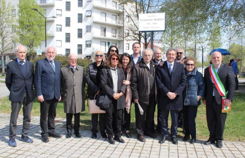 Alba: la piazzetta antistante l'ex palazzo del Tribunale è stata intitolata a Costanzo Bubbio