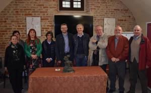 Bra: nuova scultura per Palazzo Traversa grazie ad una raccolta fondi