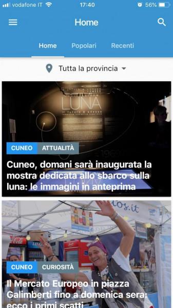 Da sabato 18 maggio sarà disponibile la nuova app di Cuneodice.it