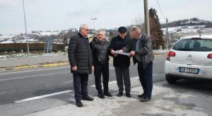 Una nuova rotatoria tra la provinciale 221 e la statale 28 in località Olle di Vicoforte Mondovì
