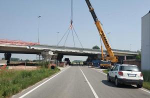 L'Anas ha completato il varo del nuovo impalcato del ponte sulla tangenziale di Fossano